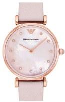 Emporio Armani Leather Strap Watch, 32mm