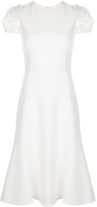 Jason Wu Collection Short Sleeve Midi Dress