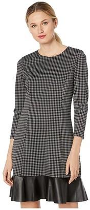 MICHAEL Michael Kors Micro Combo Tier Dress (Black/White) Women's Dress