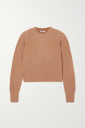 Reformation Cesina Ribbed Cashmere Sweater - Camel