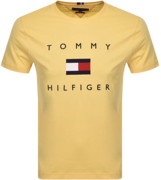 Tommy Hilfiger Flag T Shirt Yellow