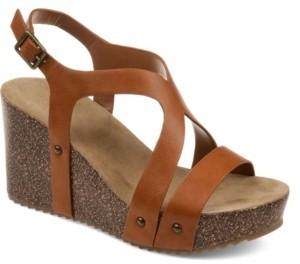 Journee Collection Women's Geneva Wedge Sandals Women's Shoes