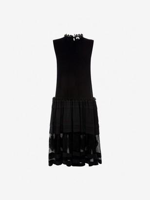 Alexander McQueen Flower Intarsia Knit Dress