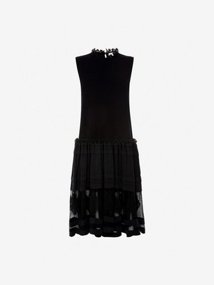 Alexander McQueen Flower Intarsia Knit Dress