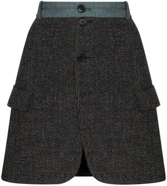 Rentrayage Buttoned Mini Skirt