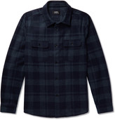 A.p.c. - 50s Checked Wool-blend Flannel Overshirt