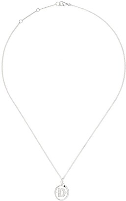 Annoushka 18kt white gold diamond initial D necklace