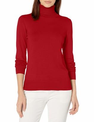 Chaps Women's Long Sleeve Turtle Neck Cotton-Sweater