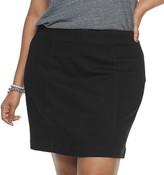 Mudd Juniors' Plus Size Seamed Bodycon Denim Skirt