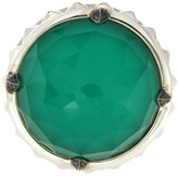 Stephen Webster 925 Sterling Silver Crystal Chrysoprase & Sapphire Ring Size 6.5