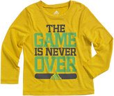 """adidas Boys 4-7x climalite """"The Game Is Never Over"""" Tee"""