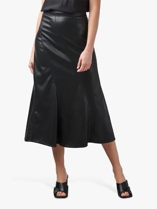 Rebecca Taylor Vegan Leather Midi Skirt, Black