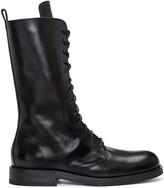 Ann Demeulemeester Black Long Lace-up Boots