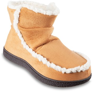 Isotoner Women's Alex Microsuede 360 Comfort Bootie Slippers