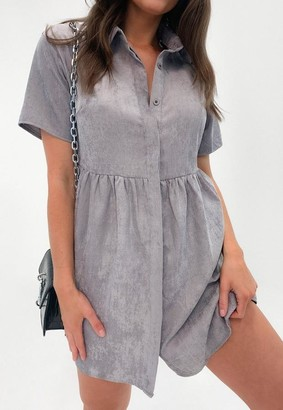 Missguided Cord Shirt Smock Dress