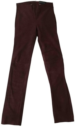 Zadig & Voltaire Burgundy Suede Trousers