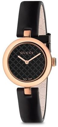 Gucci Diamantissima Rose Gold PVD & Leather Strap Watch