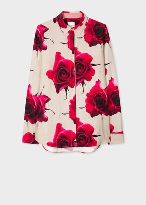 Paul Smith Women's 'Monarch Rose' Print Linen-Blend Shirt