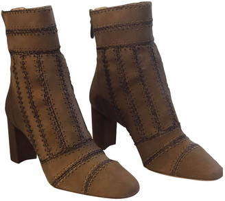 Alexandre Birman Beige Suede Ankle boots