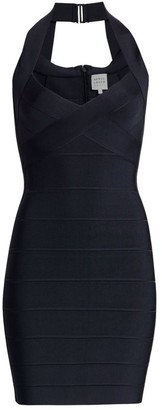 Herve Leger Icon Halter Mini Dress