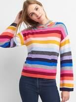 Crazy stripe pullover hoodie