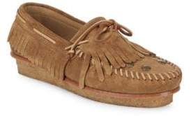 Giuseppe Zanotti Suede Low-Top Moccasins