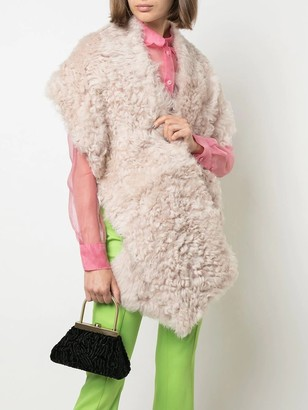 Sies Marjan Jordi Sheep Skin Shrug Beige