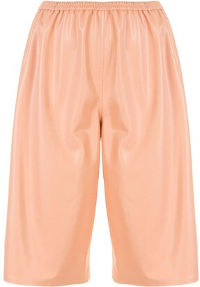 Sally LaPointe Faux Leather Shorts