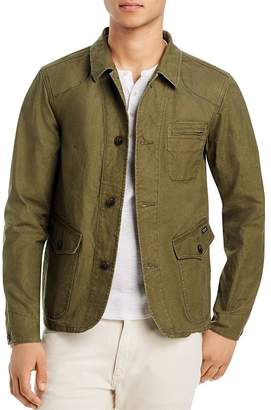 Scotch & Soda Washed Canvas Regular Fit Jacket
