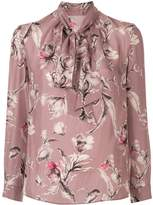 TOMORROWLAND floral-print pussy bow blouse