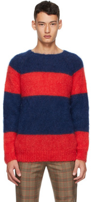 Molly Goddard Red and Navy Striped Noah Sweater