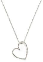 Sydney Evan Tilted Diamond Heart Necklace