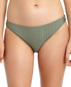 California Waves Juniors' Metallic Ribbed Hipster Bikini Bottoms, Created for Macy's Women's Swimsuit