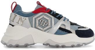 Philipp Plein denim Runner sneakers
