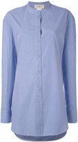Ports 1961 pinstripe cape sleeve shirt - women - Cotton - 40