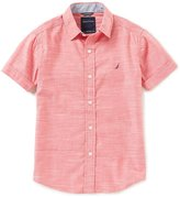 Nautica Big Boys 8-20 Short-Sleeve Woven Shirt