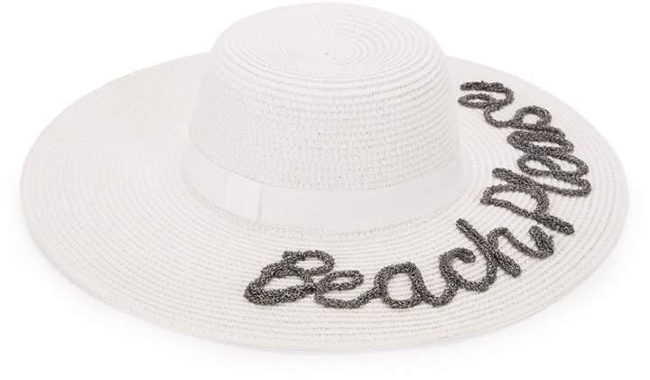 c3dfe9cec Beach Please Embroidered Sun Hat