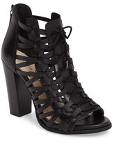 Jessica Simpson Women's Riana Woven Leather Cage Sandal