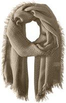 La Fiorentina Women's Multi-Knit Scarf with Fringe
