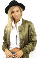 West Coast Wardrobe Boys Club Bomber Jacket in Olive