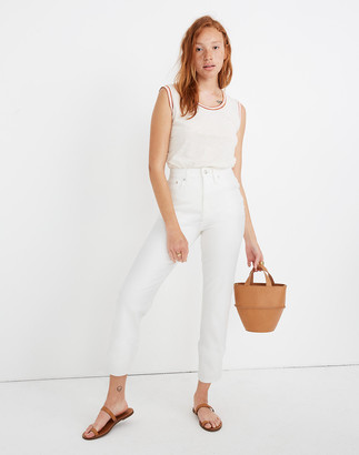 Madewell Petite Classic Straight Jeans in Tile White