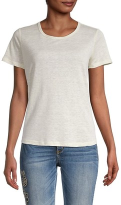 Miss Me Linen Tie-Back T-Shirt