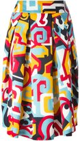 DSQUARED2 abstract print skirt
