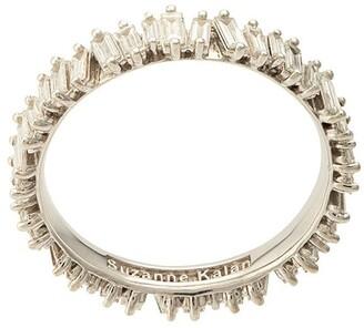 Suzanne Kalan 18kt white gold baguette diamond eternity band