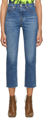 Levi's Levis Blue Straight Wedgie Jeans