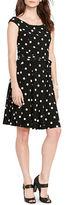 Lauren Ralph Lauren Petite Polka Dot Print Dress