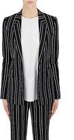 Givenchy Women's Pinstriped Single-Button Blazer-BLACK