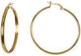Argentovivo 18K Gold Plated Sterling Silver Polished Hoop Earrings