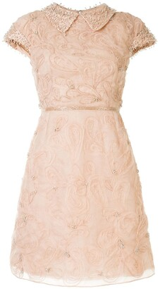 Marchesa Cap-Sleeve Cocktail Dress