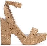 Tabitha Simmons Harlow sandals - women - Cork/Leather - 36.5